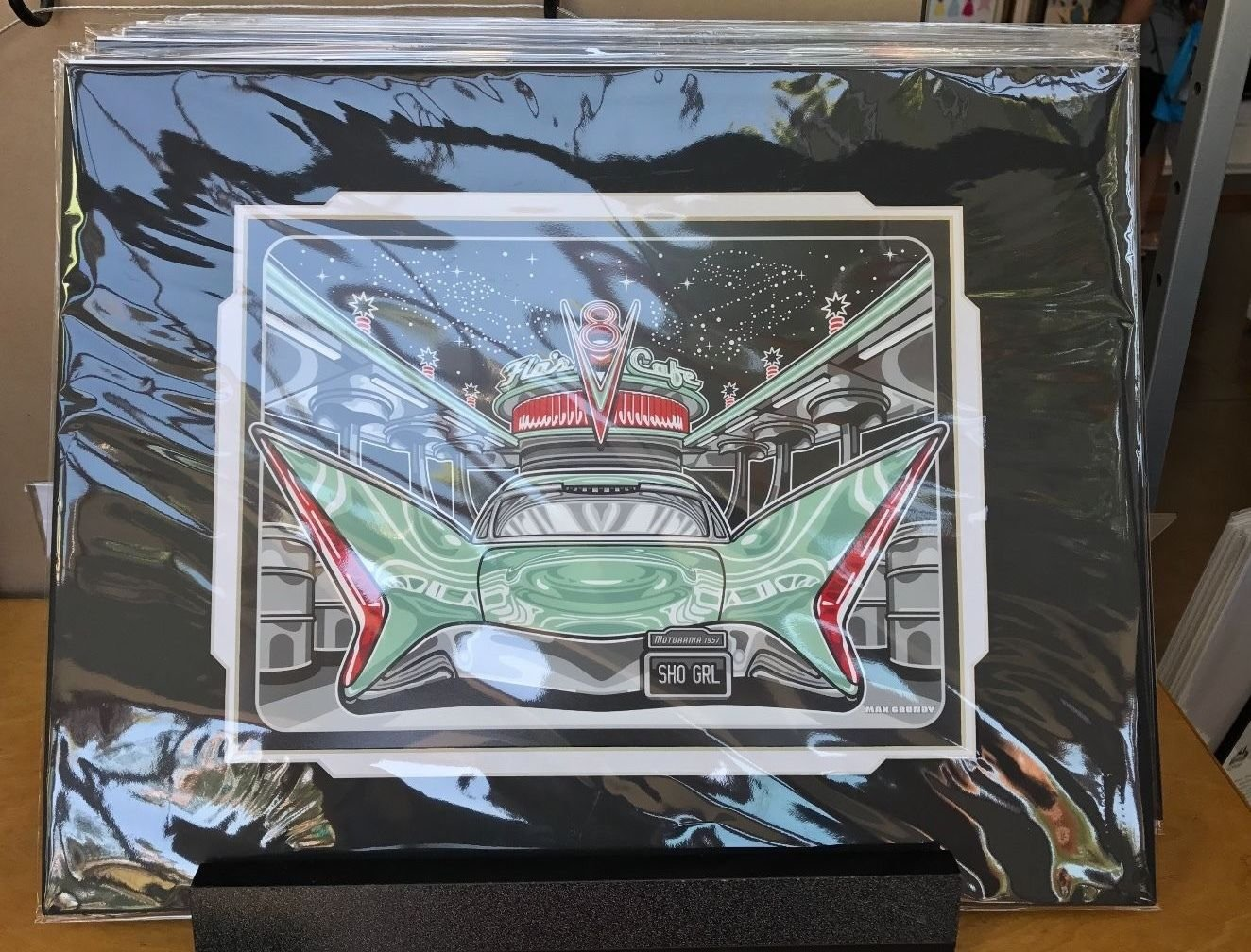 Disney WonderGround Cars Flomotion Deluxe Print by Max Grundy New