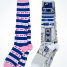 Disney Parks Star Wars R2D2 Women's Adult Socks New (2Pack)