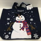 Disneyland Resort Snowman with Ear Hat Christmas Canvas Tote Bag New