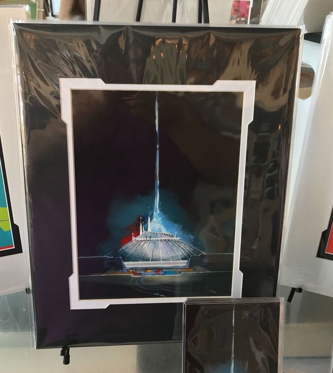 Disney WonderGround Gallery Space Mountain Deluxe Print by Michael Murphy New