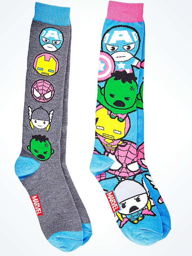 Disney Parks Marvel Avengers Adult Socks New (2 Pack)