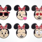 Disney Parks Exclusive Minnie Mouse Emoji Pin Set New Sealed
