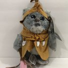 "Disney Parks Star Wars 2016 Rogue One KAINK Ewok 9"" Plush New with Tag"