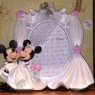 Disney Parks Mickey & Minnie Mouse Bride Groom Wedding Resin Photo Frame New