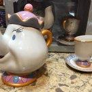 Disney Parks Beauty & The Beast Mrs. Tea Potts & Chip Teapot Set New in Box