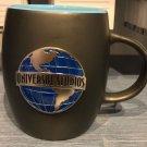 Universal Studios Exclusive Black Ceramic Mug Cup Metal Logo New