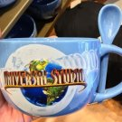 Universal Studios Exclusive Double Side Light Blue Wide Mug With Spoon New