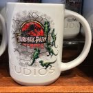 Universal Studios Exclusive Jurassic Park White Ceramic Mug New