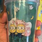 Universal Studios Exclusive Despicable Me Minions Travel Tumbler with Straw New