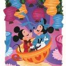 Disney WonderGround Gallery Mickey Minnie Tea Cups Print by Griselda Sastrawina