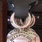 Universal Studios Exclusive Transformers Decepticons Metal Keychain New