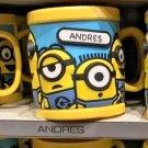 Universal Studios Minions Despicable Me Plastic Mug (Andrea-Andres-Andrew)