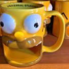 Universal Studios Exclusive The Simpsons Ceramic Homer Mug New