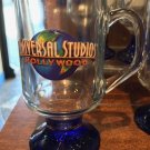 Universal Studios Hollywood Exclusive Glass Cup With Blue Base New