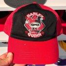 Six Flags Magic Mountain Dc Comics Harley Quinn Emoji Black / Red Hat New*