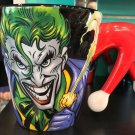 Six Flags Magic Mountain Dc Comics The Joker and Harley Quinn 3-D Mug New