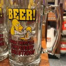 Universal Studios The Simpson Homer Simpson Beer! Now There's A Tall Glass Mug