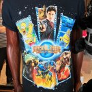 Universal Studios Hollywood USH Multi Character Adult T-Shirt New Large