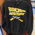 Universal Studios Exclusive Back To The Future Black Hoodie Sweatshirt Small