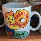 Universal Studios Exclusive Simpsons Lard Lad Donuts World Famous Ceramic Mug