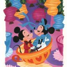 Disney WonderGround Gallery Tea Cups Date Night Postcard by Griselda Sastrawina