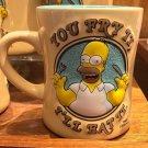 Universal Studios Simpsons Homer You fry it Ill Eat It Ceramic Coffee Mug New