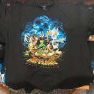 Six Flags Magic Mountain Looney Tunes Zombies T-Shirt Medium New