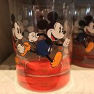 Disney Parks Red Base Mickey Mouse Single Glass Cup New