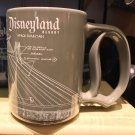 Disney Parks Disneyland Resort Space Mountain Attraction Blue Print D Handle Mug