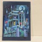 Disney WonderGround Gallery Haunted Mansion Postcard Singed by Joey Chou New