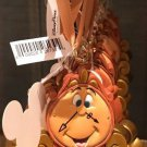 Disney Parks Beauty and The Beast Cogsworth Clock Christmas Ornament New