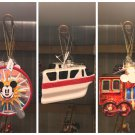 Disneyland Resort Icons Christmas Ornament Set Ferris Wheel Train Monorail New