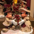 Disney Parks Minnie and Mickey Mouse Victorian Christmas Light Up Figurine New