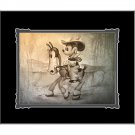 Disney Parks Mickey Mouse There's A New Sheriff In Town Print by Noah New