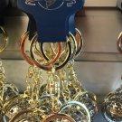 Universal Studios Exclusive Gold Finish Globe Keychain New