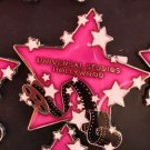 Universal Studios Hollywood Exclusive Pink Star Acrylic Metal Magnet New