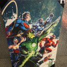 DC COMICS SILVER BUFFALO JUSTICE LEAGUE LARGE CANVAS PRINT FLASH WONDER WOMAN