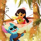 Disney WonderGround Lilo & Stitch Music To My Ears Postcard by Eunjung June Kim
