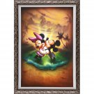 Disney Parks Mickey Minnie Life With You is Dream Framed LE Giclée by Noah New