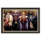 Disney Parks Villains Sinister Villains Black/Gold Frame Giclee by Darren Wilson