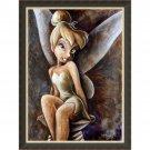 Disney Parks Classic Tinker Bell Black/Gold Frame Giclee by Darren Wilson New