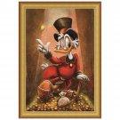 Disney Parks Duck Tales Scrooge McDuck Framed Giclee by Darren Wilson New