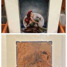 """Disney Parks """"Little Mermaid"""" and """"Pinocchio 1940"""" Deluxe Print Set New"""