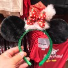 Disney Parks Christmas Santa Hat Minnie Mouse Headband Ears New