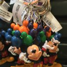 DISNEY PARKS FUN MICKEY MOUSE AND MICKEY SHAPED EAR BALLOONS KEYCHAIN NEW