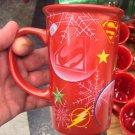 Six Flags Magic Mountain Dc Comics Justice League Logos Christmas Mug New