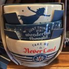 DISNEY PARKS PETER PAN NEVER LAND JUST THINK OF A WONDERFUL THOUGHT 3 BOWL SET