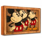 Disney Park Three Vintage Mickey's LE Giclée by Trevor Carlton New