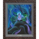 Disney Parks Ursula and Her Messengers LE Framed Giclée by Micheal Humphries New