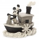 Disney Parks Precious Moments Steamboat Mickey Willie Bisque Figurine New in Box